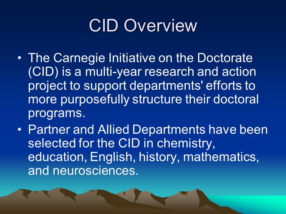 UNC SOE and CID The UNC School of Education (SOE) is one of ten universities chosen as a Partner Department.