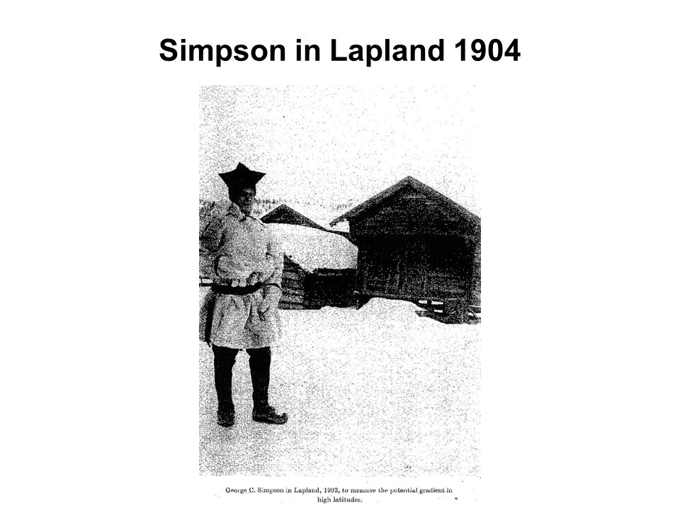 Simpson in Lapland 1904
