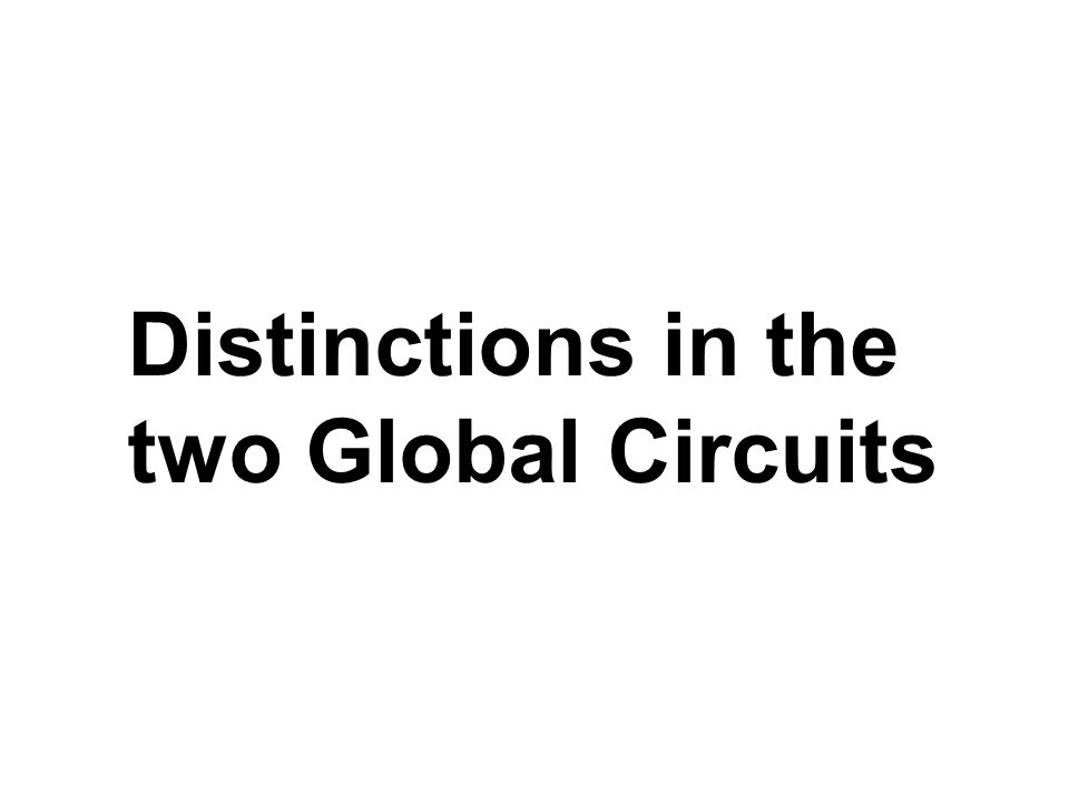 Distinctions in the two Global Circuits