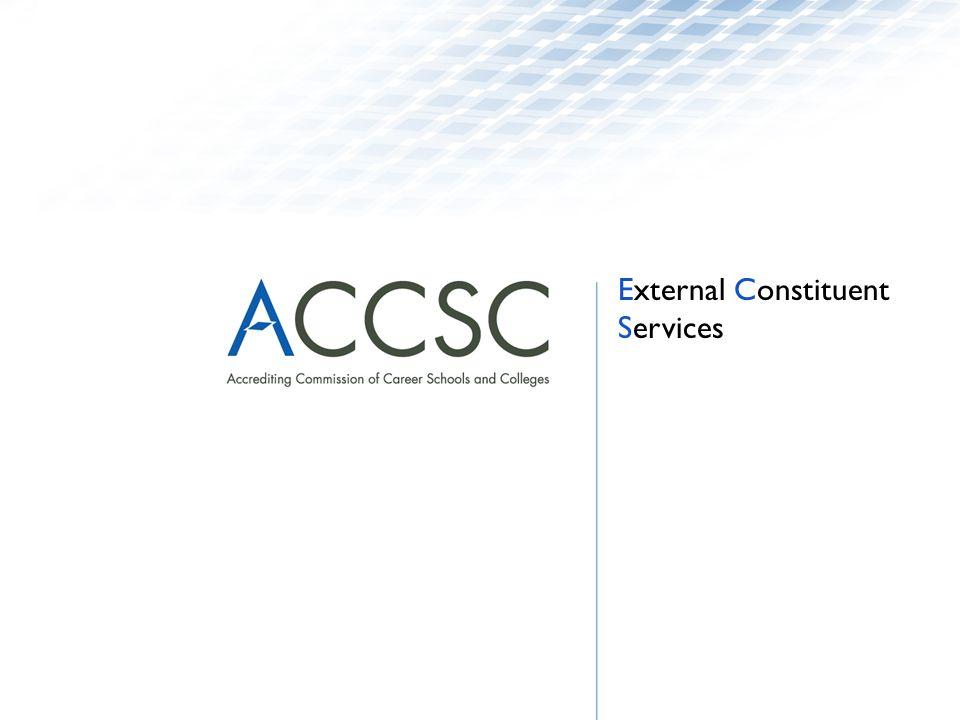 External Constituent Services