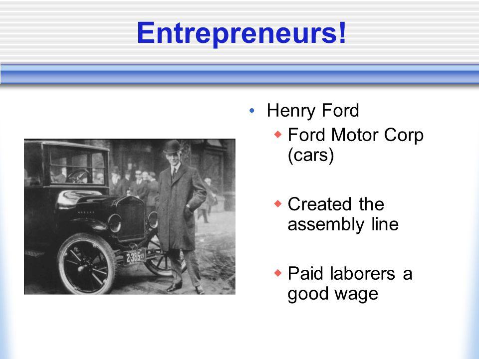Entrepreneurs.