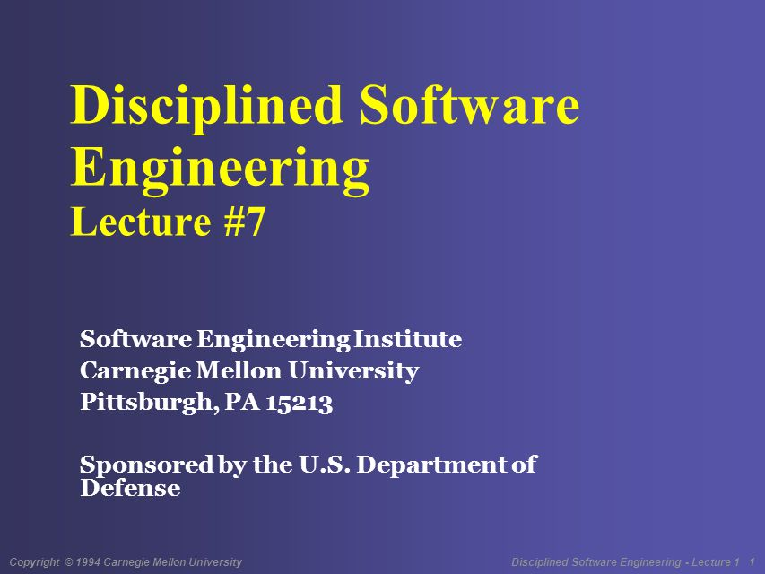 Copyright © 1994 Carnegie Mellon University Disciplined Software Engineering - Lecture 1 12 Why Do Reviews.
