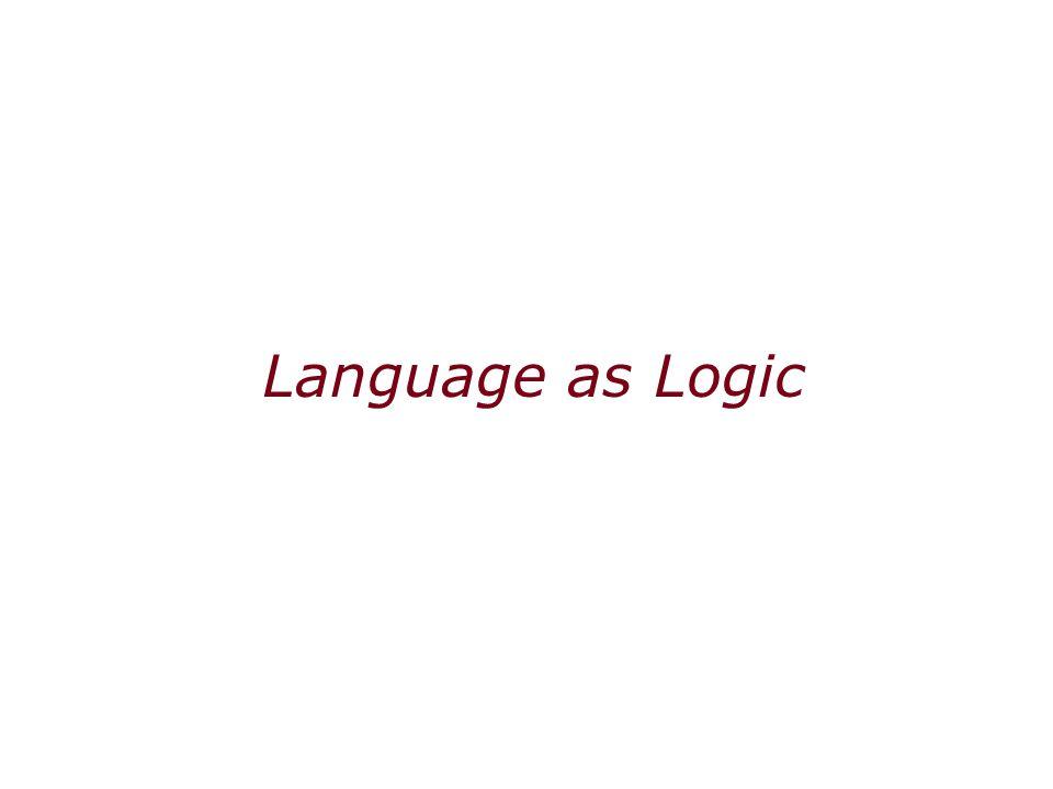 Language as Logic