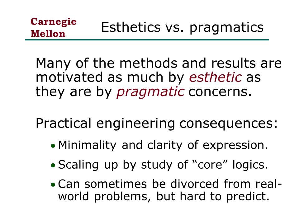 Carnegie Mellon Esthetics vs.