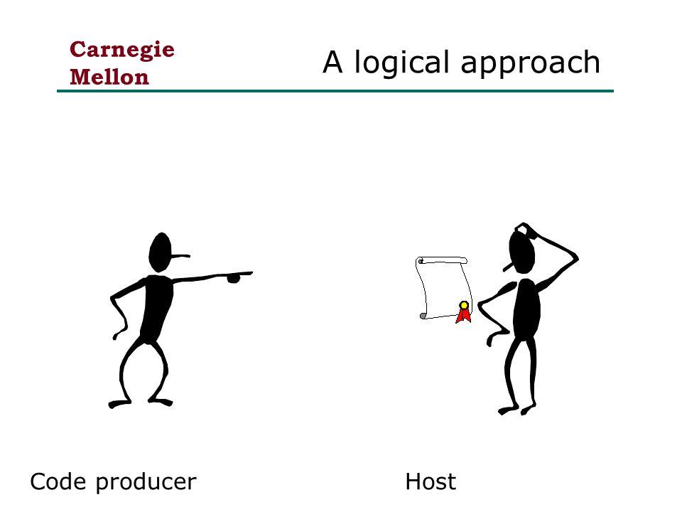 Carnegie Mellon A logical approach Code producerHost