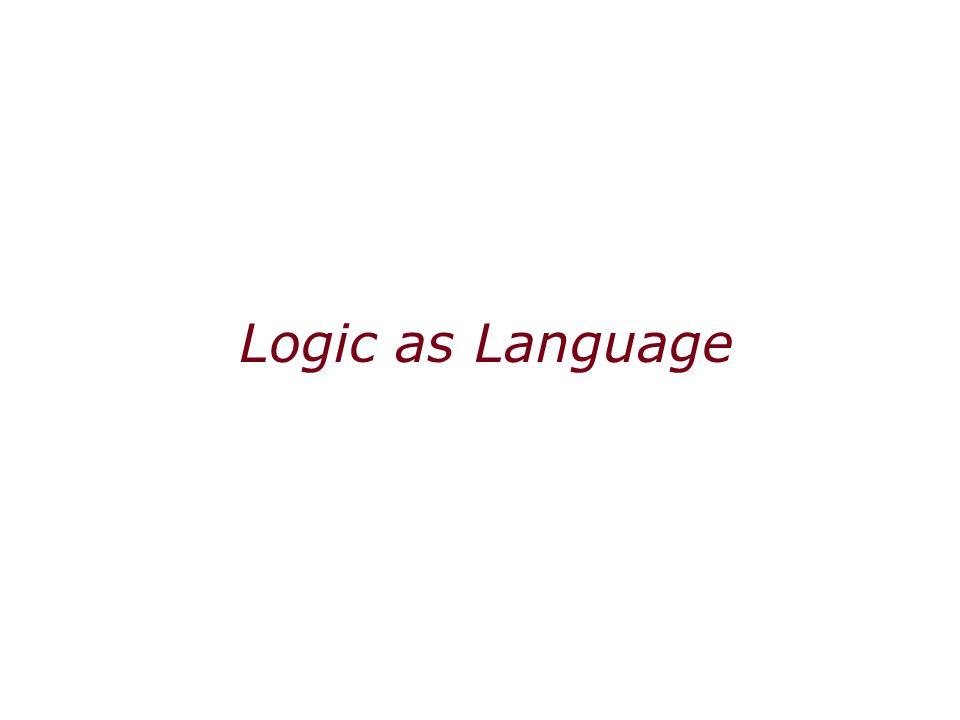 Logic as Language