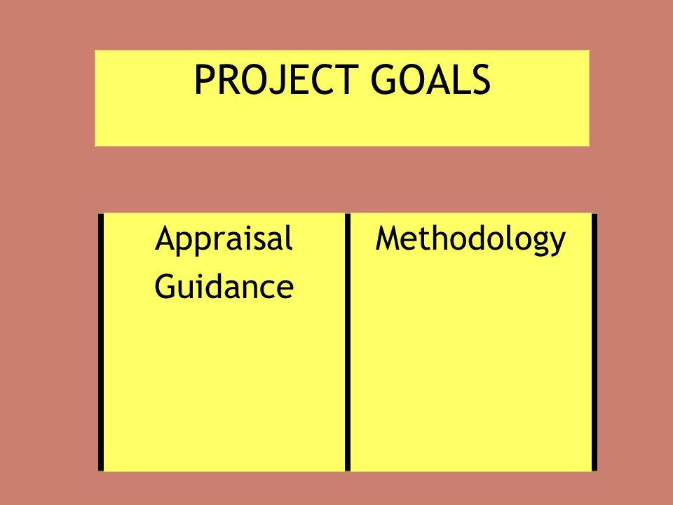 PROJECT GOALS Appraisal Guidance Methodology