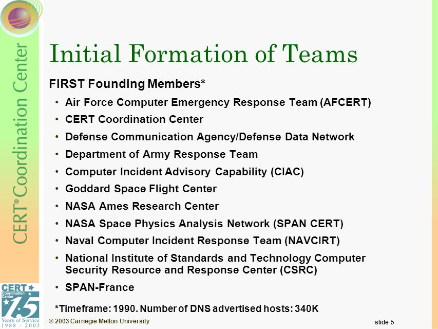 © 2003 Carnegie Mellon University slide 6 Source: http://cm.bell-labs.com/who/ches/map/gallery/index.html The New Net