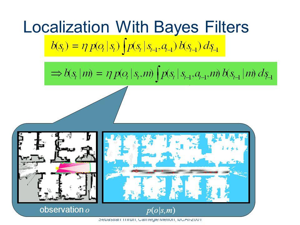 Sebastian Thrun, Carnegie Mellon, IJCAI-2001 Bayes Filters are Familiar to AI.