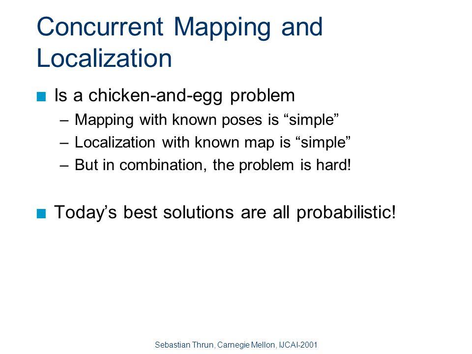 Sebastian Thrun, Carnegie Mellon, IJCAI-2001 The Problem: Concurrent Mapping and Localization 70 m