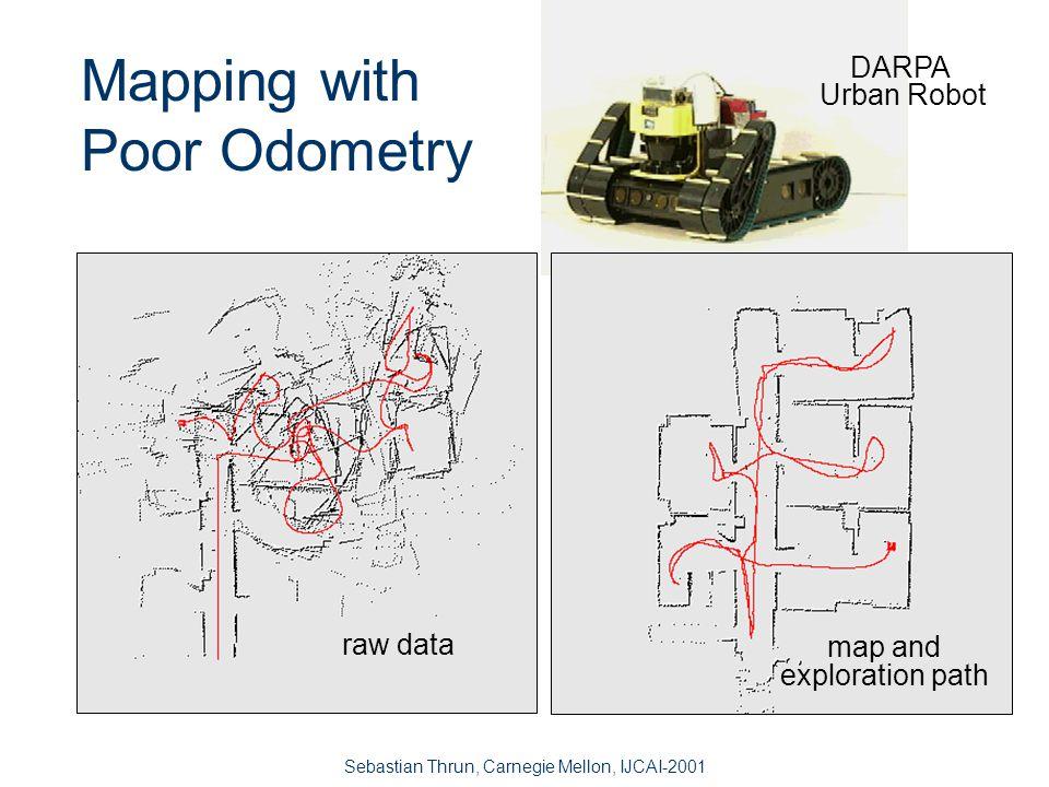 Sebastian Thrun, Carnegie Mellon, IJCAI-2001 ML* Mapping, Online Idea: step-wise maximum likelihood 2.
