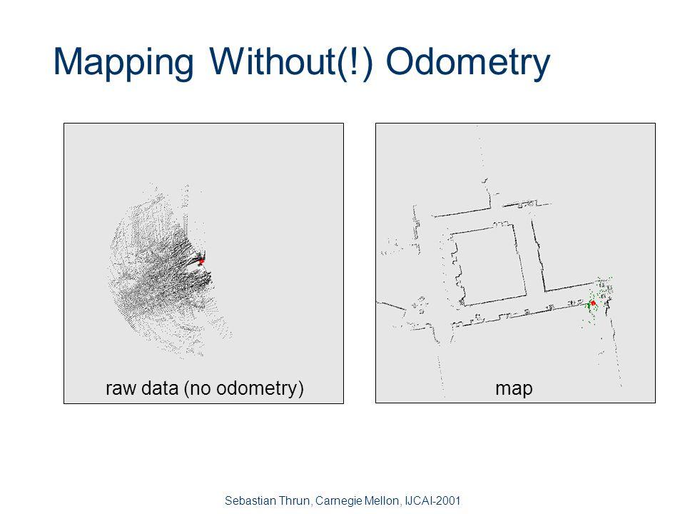 Sebastian Thrun, Carnegie Mellon, IJCAI-2001 Mapping with Poor Odometry map and exploration path raw data DARPA Urban Robot