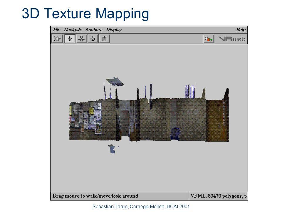 Sebastian Thrun, Carnegie Mellon, IJCAI-2001 3D Texture Mapping raw image sequencepanoramic camera