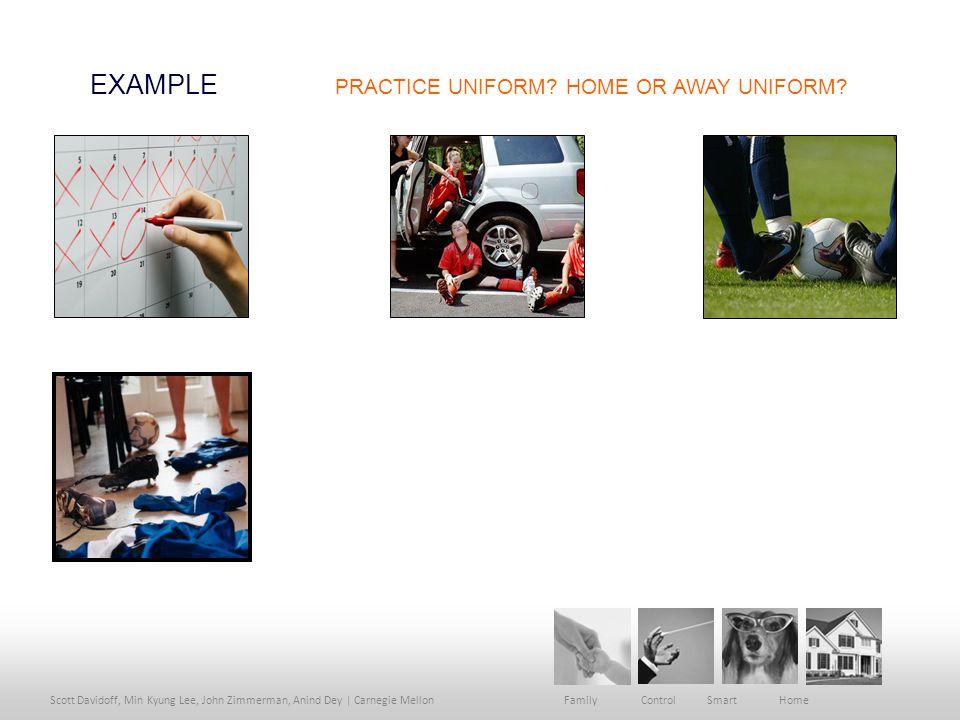 Scott Davidoff, Min Kyung Lee, John Zimmerman, Anind Dey | Carnegie Mellon Family Control Smart Home EXAMPLE PRACTICE UNIFORM.