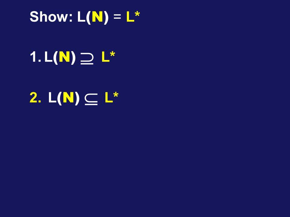 Show: L (N) = L* 1.L (N)  L* 2. L (N)  L*