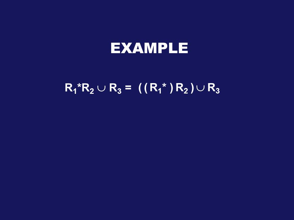 R2R2 R1*R1*( EXAMPLE R 1 *R 2  R 3 = ())  R3R3