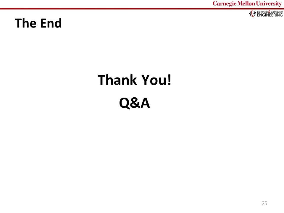 Carnegie Mellon The End Thank You! Q&A 25