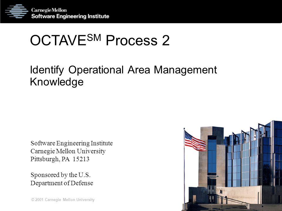 S2-12 © 2001 Carnegie Mellon University Outcomes of Threats Disclosure or viewing of sensitive information Modification of important or sensitive information Destruction or loss of important information, hardware, or software Interruption of access to important information, software, applications, or services