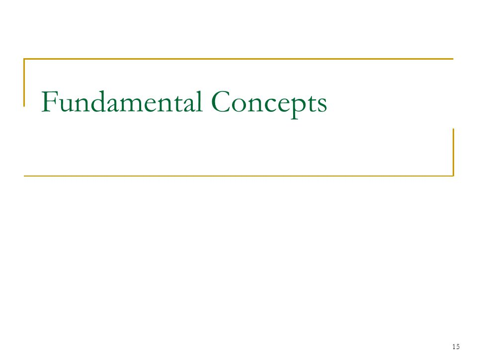 Fundamental Concepts 15