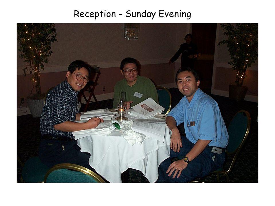 Reception - Sunday Evening