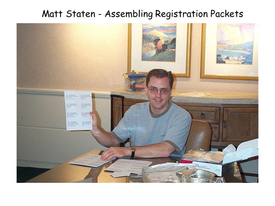 Assembling Registration Packets