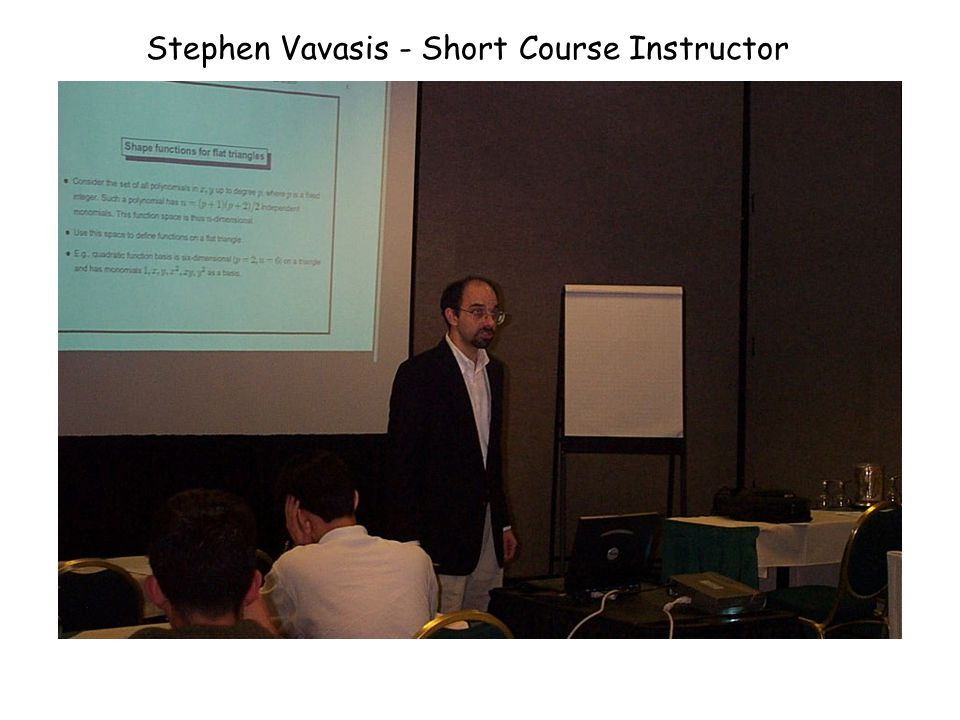 Stephen Vavasis - Short Course Instructor