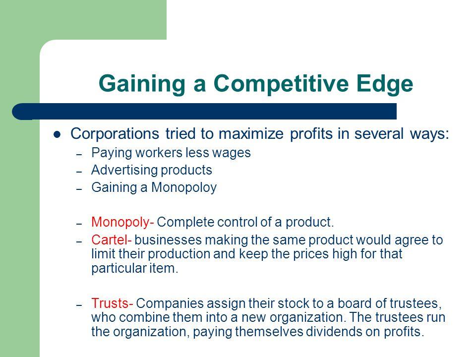 Trusts control govt Big business, monopolies controlled Congress through bribery.