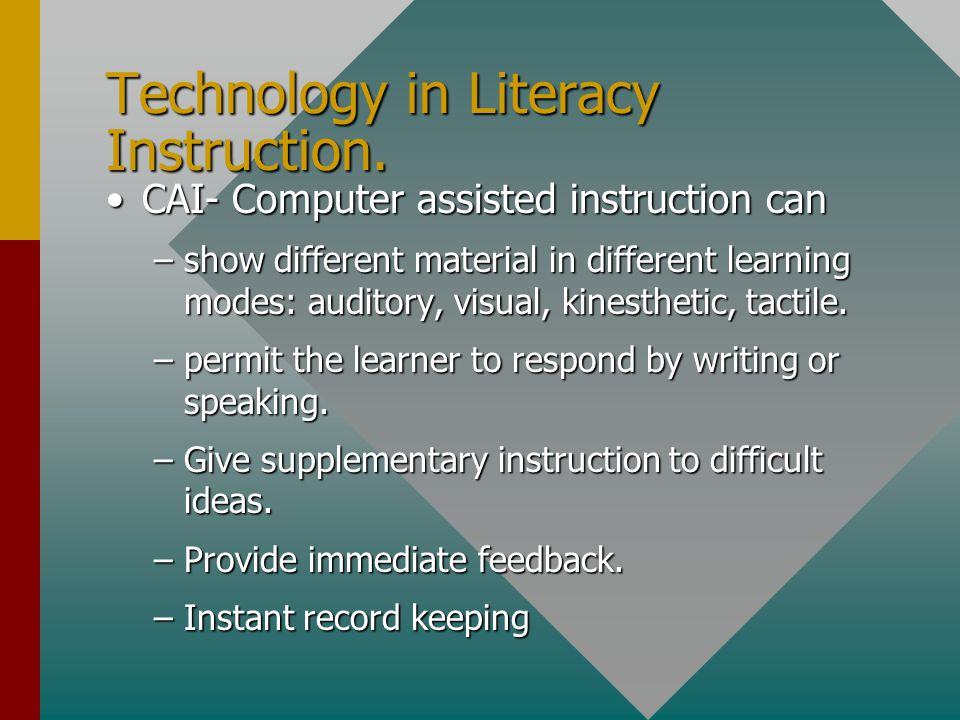 Technology in Literacy Instruction.
