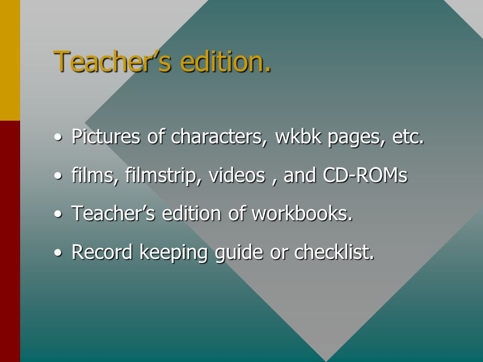 Teacher's edition. Pictures of characters, wkbk pages, etc.Pictures of characters, wkbk pages, etc.