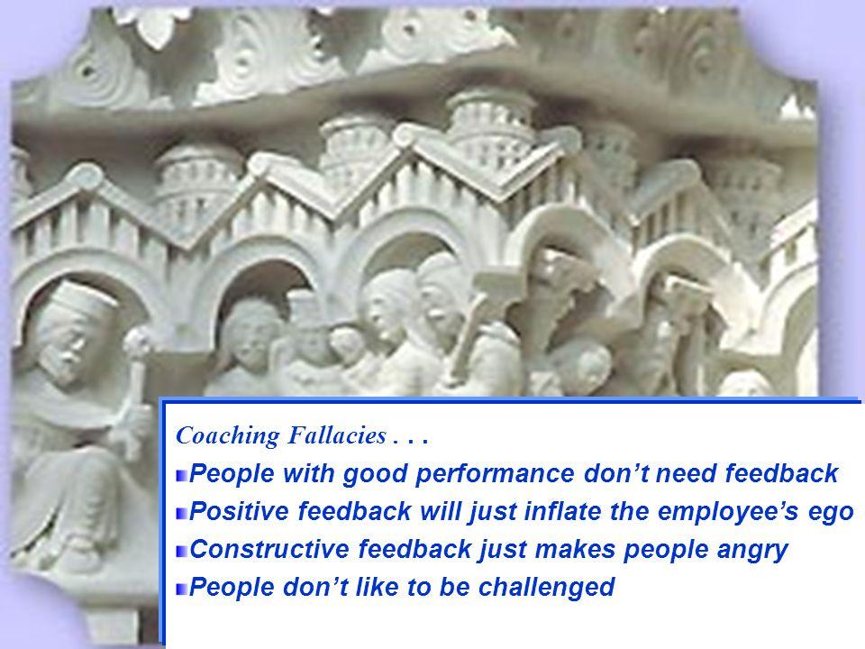 27 Managing -- Coaching Some Fallacies Coaching Fallacies...