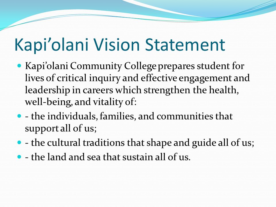 Kapi'olani Ecology of Learning