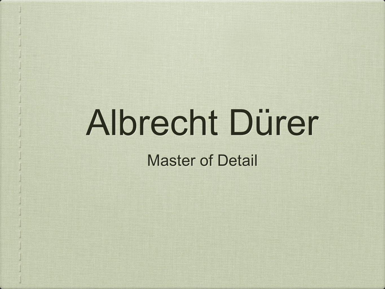 Albrecht Dürer Master of Detail