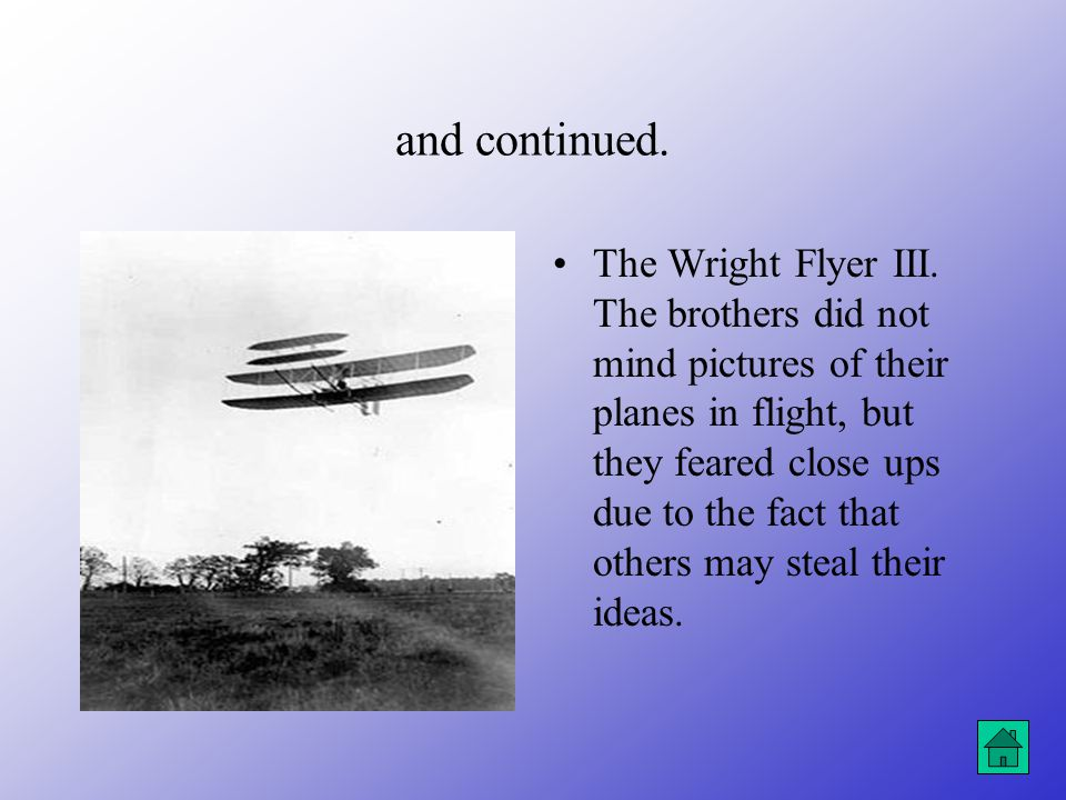 The work of the Wright Brothers continued….