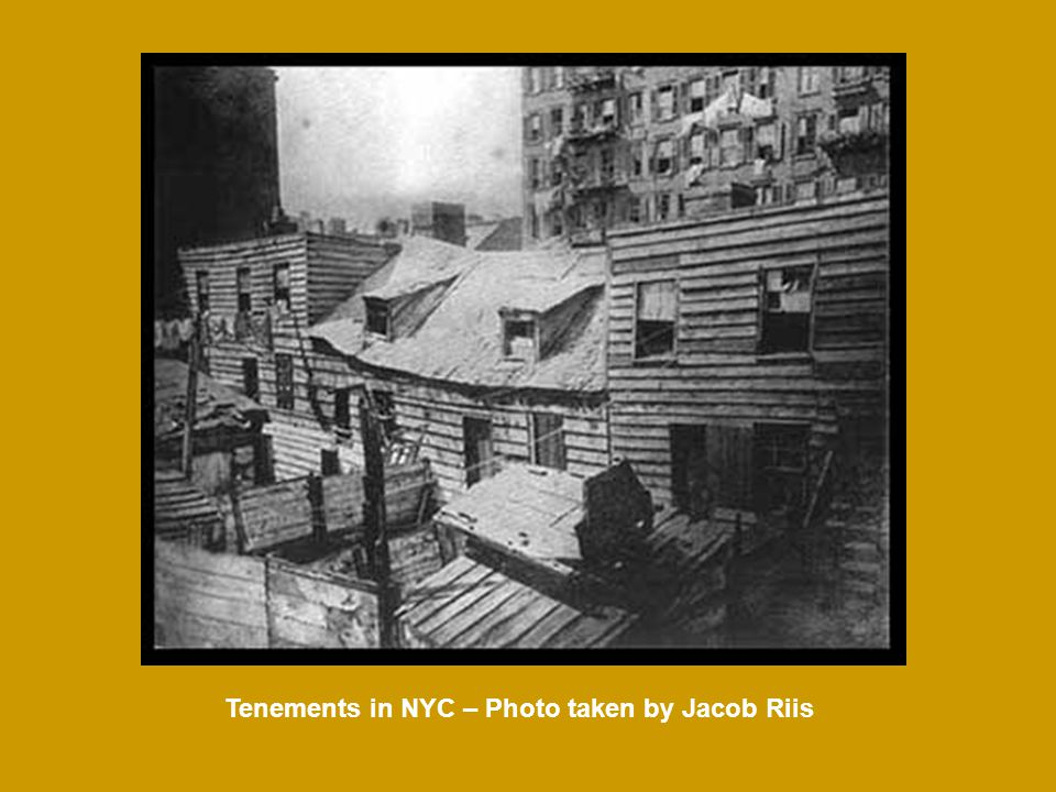 Tenements in NYC – Photo taken by Jacob Riis