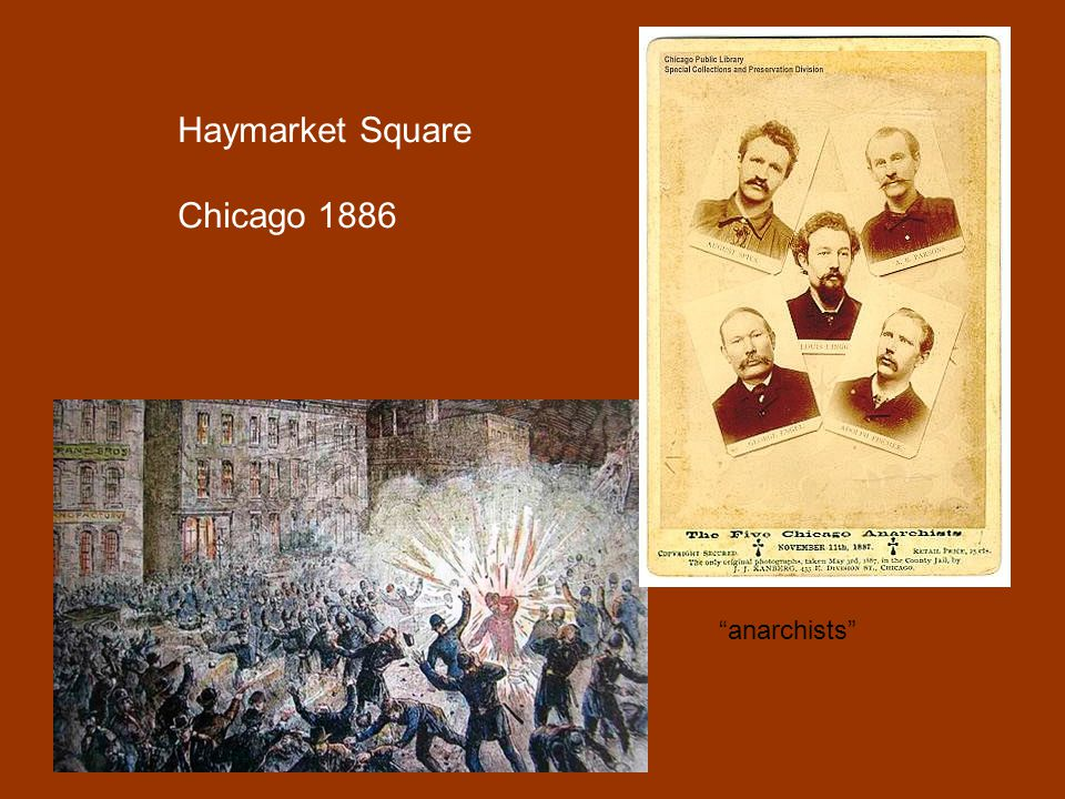 Haymarket Square Chicago 1886 anarchists