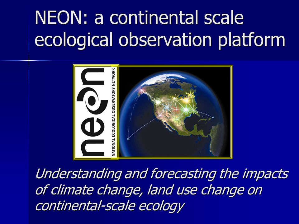 Concluding thoughts Continental scale ecology creates vast challenges (& opportunities) Huge numbers of sensors Large distances Little or no power Diverse kinds of data Diverse kinds and levels of users New opportunities for aircraft Increased need for validation and auxiliary data Grand challenge questions will require grand challenge creativity