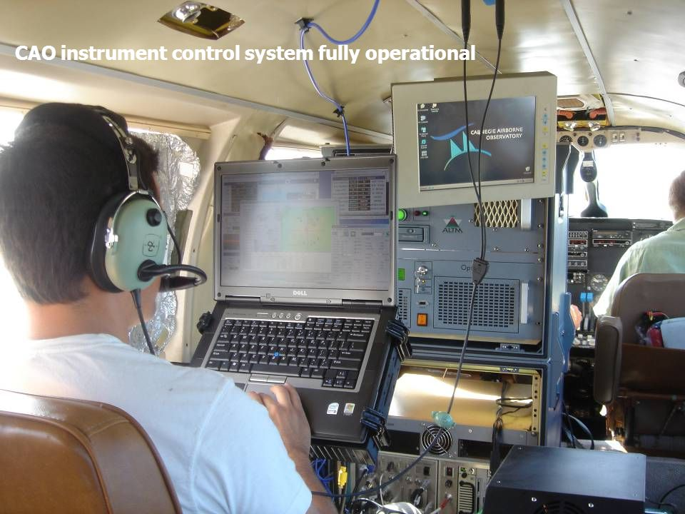 CAO instrument control system fully operational