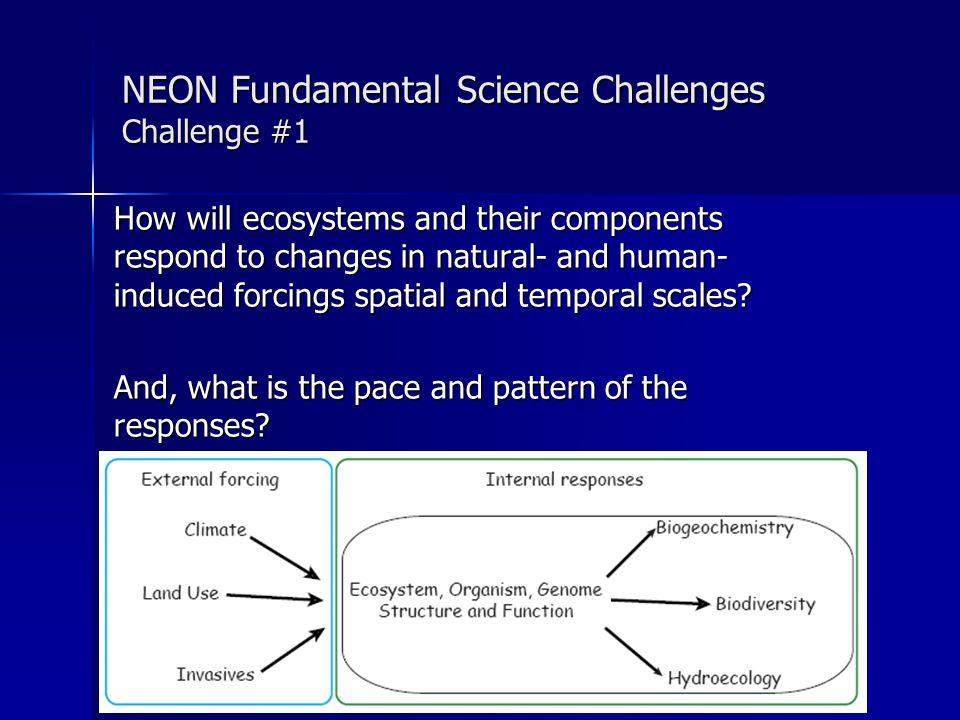 Mapping of Grand Challenge Areas to Network Design: Core Sites D 01 D 02 D 03 D 04 D 05 D 06 D 07 D 08 D 09 D 10 D 11 D 12 D 13 D 14 D 15 D 16 D 17 D 18 D 19 D 20 E1E2 INVASV BIODIV LAND USE BIOGEO ECO- HYDRO CLIMATE D01-D20: Domains 1-20 E1 = STREON Experiment E2 = Global Change Experiment = addressed by Core sites.