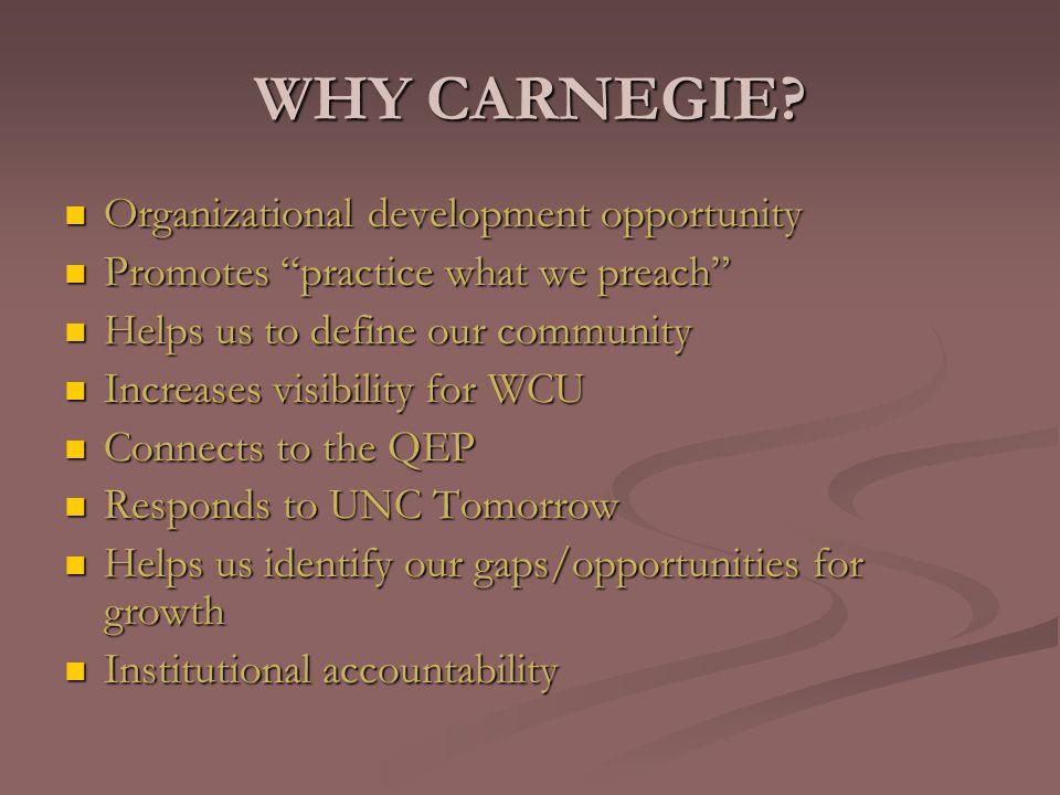 WHY CARNEGIE.