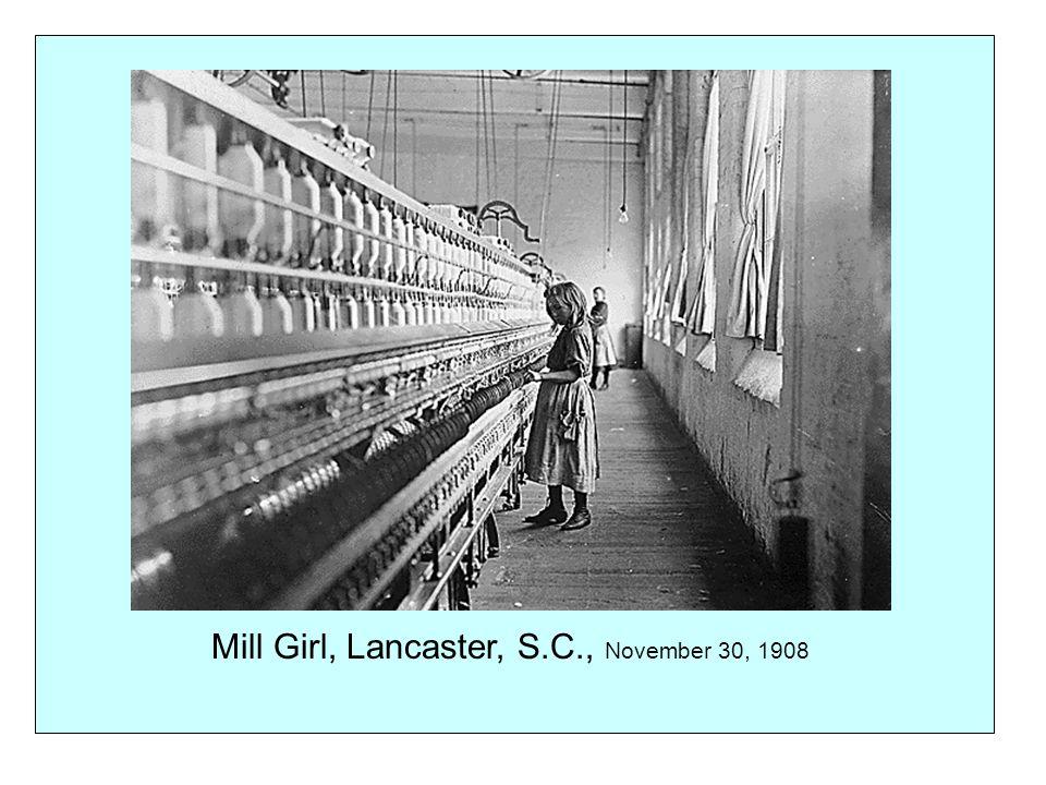 Mill Girl, Lancaster, S.C., November 30, 1908