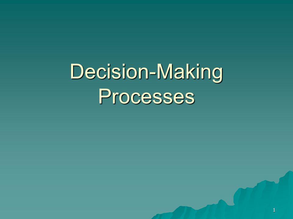 1 Decision-Making Processes