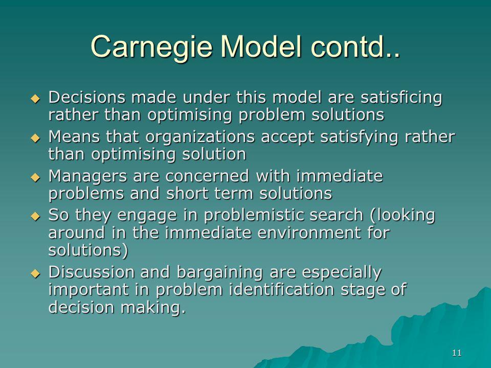 11 Carnegie Model contd..