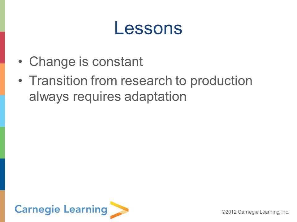 ©2012 Carnegie Learning, Inc.