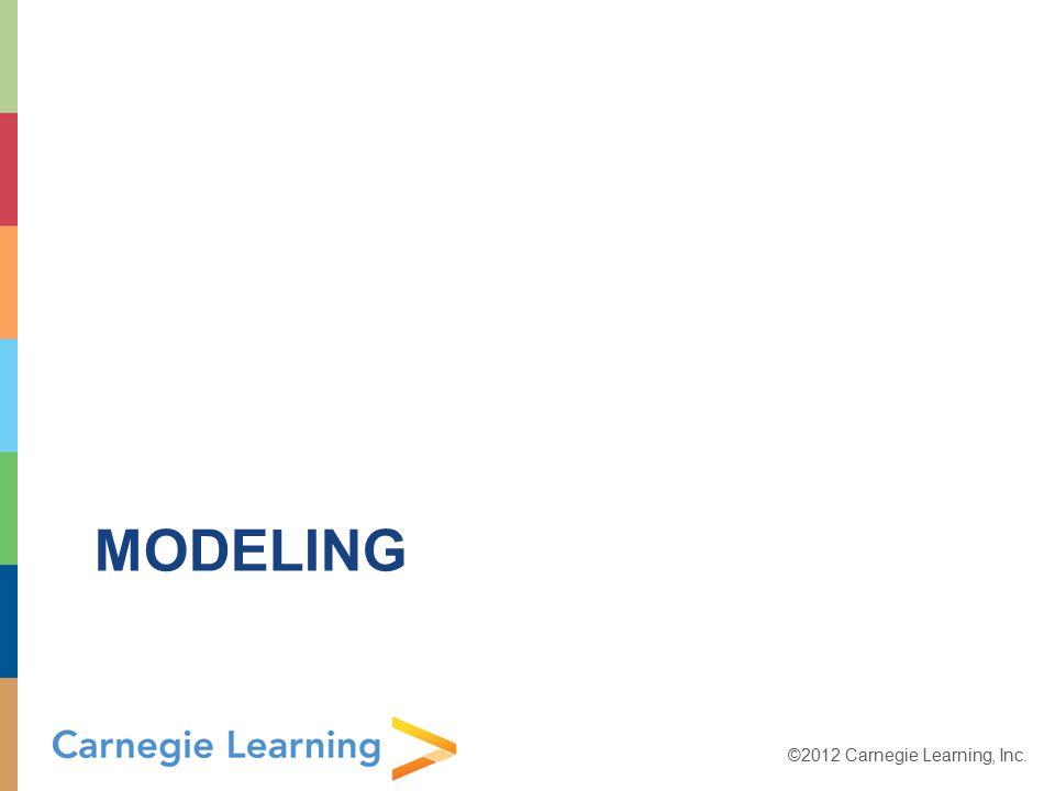 ©2012 Carnegie Learning, Inc. MODELING