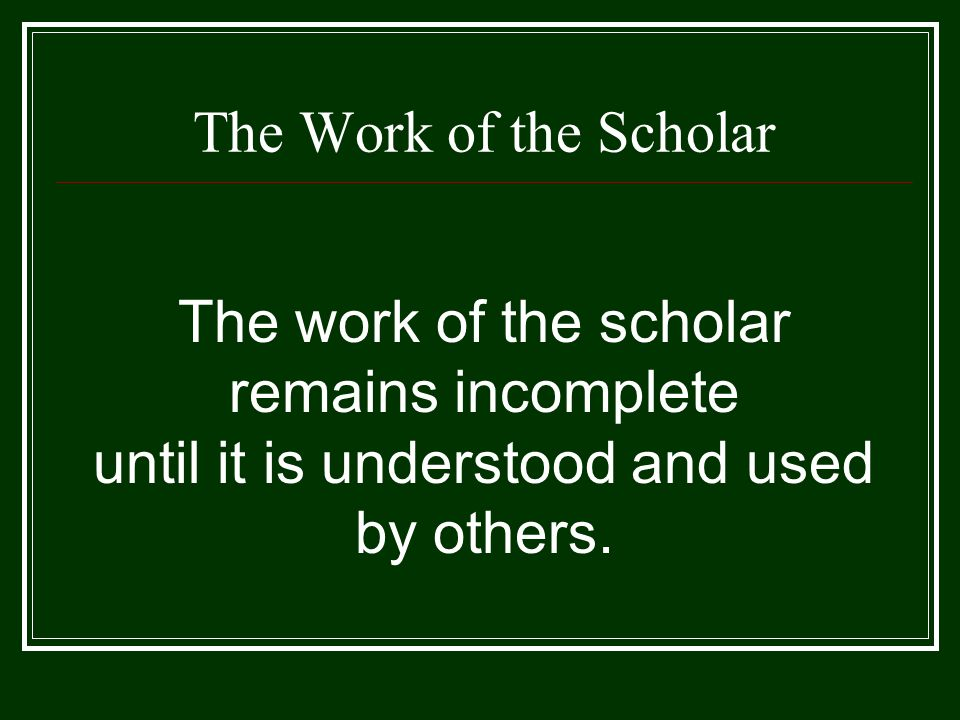 Scholarship Reconsidered (1990) Is it possible to define the work of faculty in ways that reflect more realistically the full range of academic and civic mandates? … the work of the professoriate might be thought of as having four separate, yet overlapping, functions Discovery Integration Application Teaching