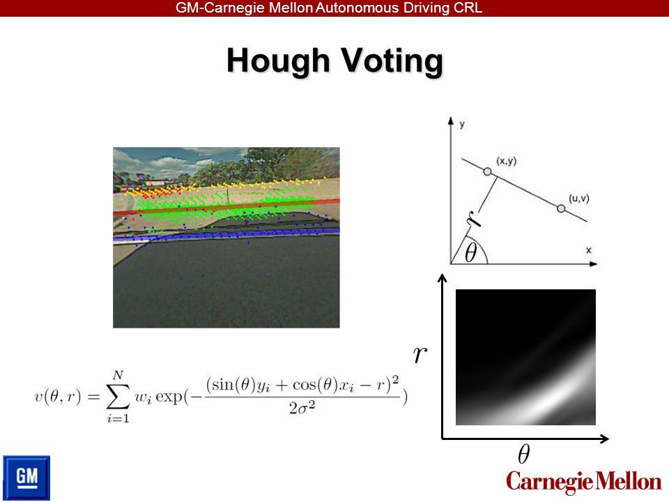 GM-Carnegie Mellon Autonomous Driving CRL Hough Voting