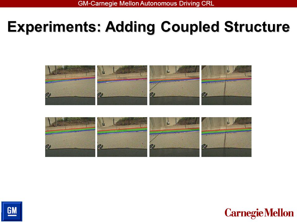 GM-Carnegie Mellon Autonomous Driving CRL Experiments: Adding Coupled Structure