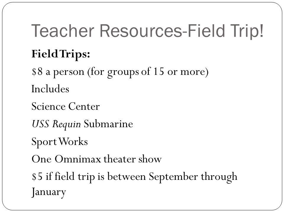 Teacher Resources-Field Trip.