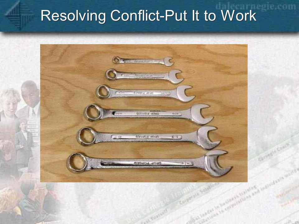 Resolving Conflict-Put It to Work