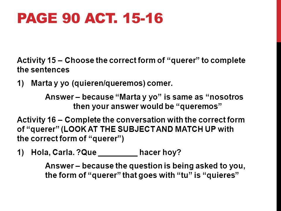 HOMEWORK ASSIGNMENT Page 84 act.2-3 P. 86-87 act.
